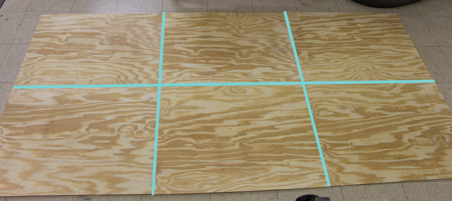 starting plywood board