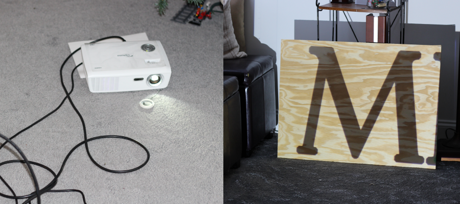 tracing letters with a projector