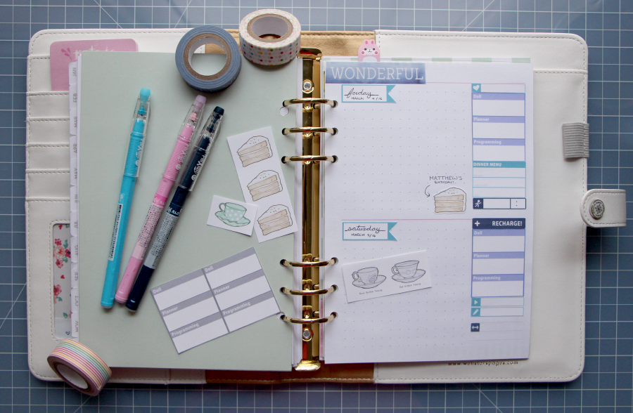 designed planner pages