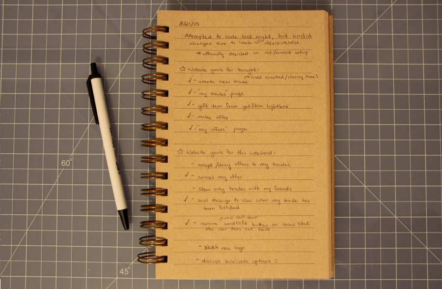 old notebook open